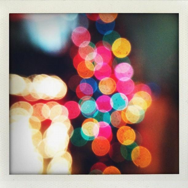 Christmas light bokeh taken with Olloclip